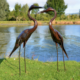 Pair of Standing Herons